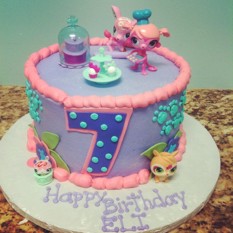 Strange 12 Lps Birthday Cakes For Girls Photo Littlest Pet Shop Birthday Funny Birthday Cards Online Elaedamsfinfo