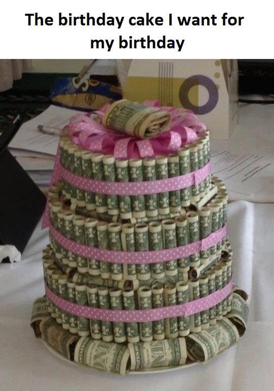 9 Funny Joke Birthday Cakes Photo Adult Birthday Cake Money