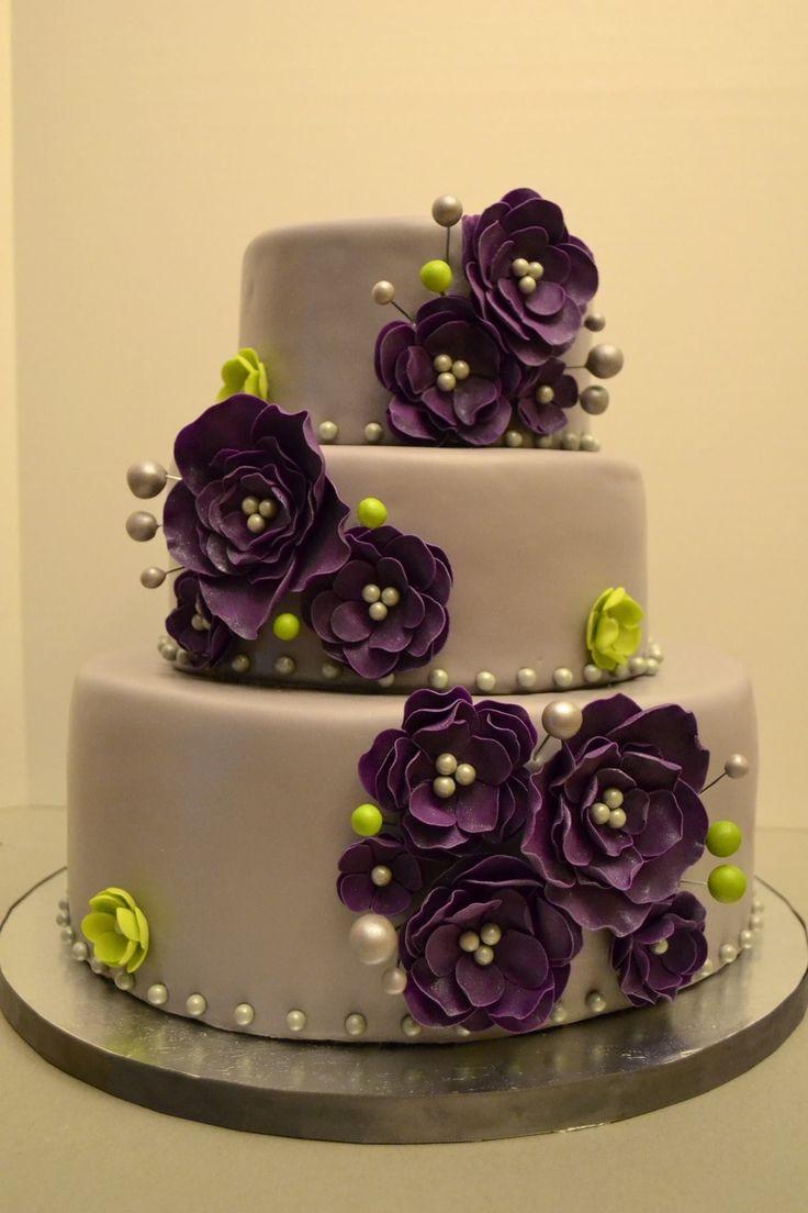 11 Plum Purple And Yellow Wedding Cakes Photo Purple And Yellow