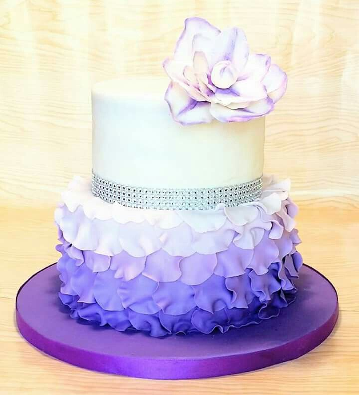 Purple Teen Girl Birthday Cakes