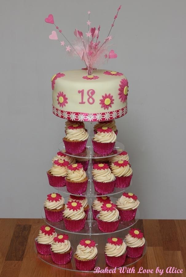 Astonishing 10 18Th Birthday Cake And Cupcakes Photo 18Th Birthday Cupcake Personalised Birthday Cards Paralily Jamesorg