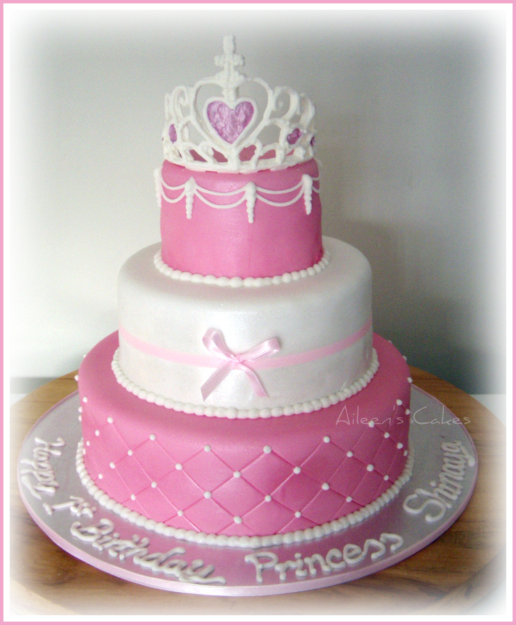 3 Tier Princess Birthday Cake