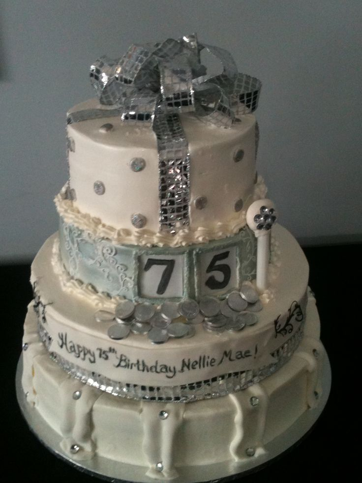75th Birthday Cake Idea