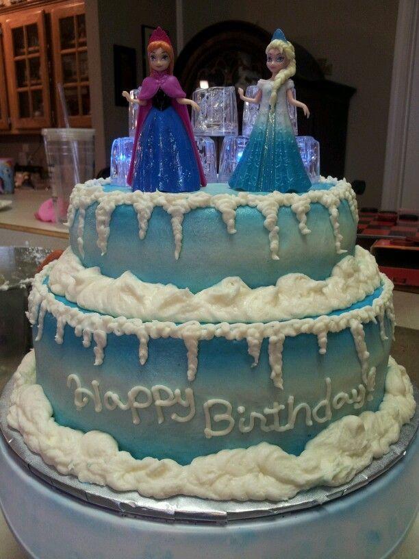 11 Frozen Cakes On Pinterest Photo Anna And Elsa Birthday Cake