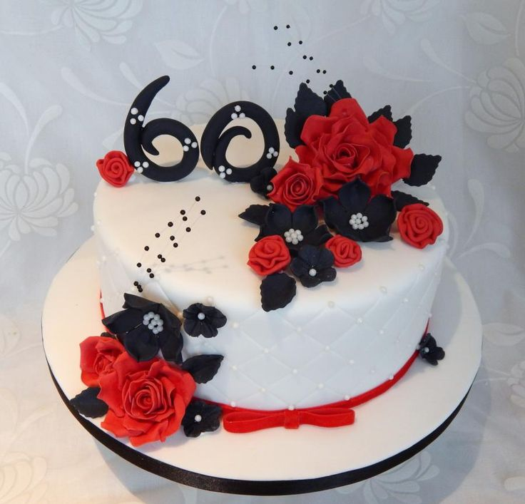 11 Red And Black 60th Birthday Cakes Photo 60th Birthday Cake
