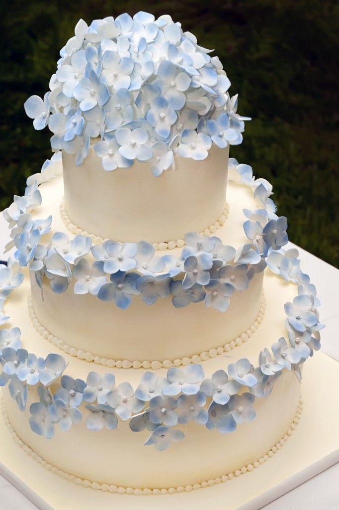 11 Wedding Cakes With Hydrangea Flowers Photo Hydrangea Cascade