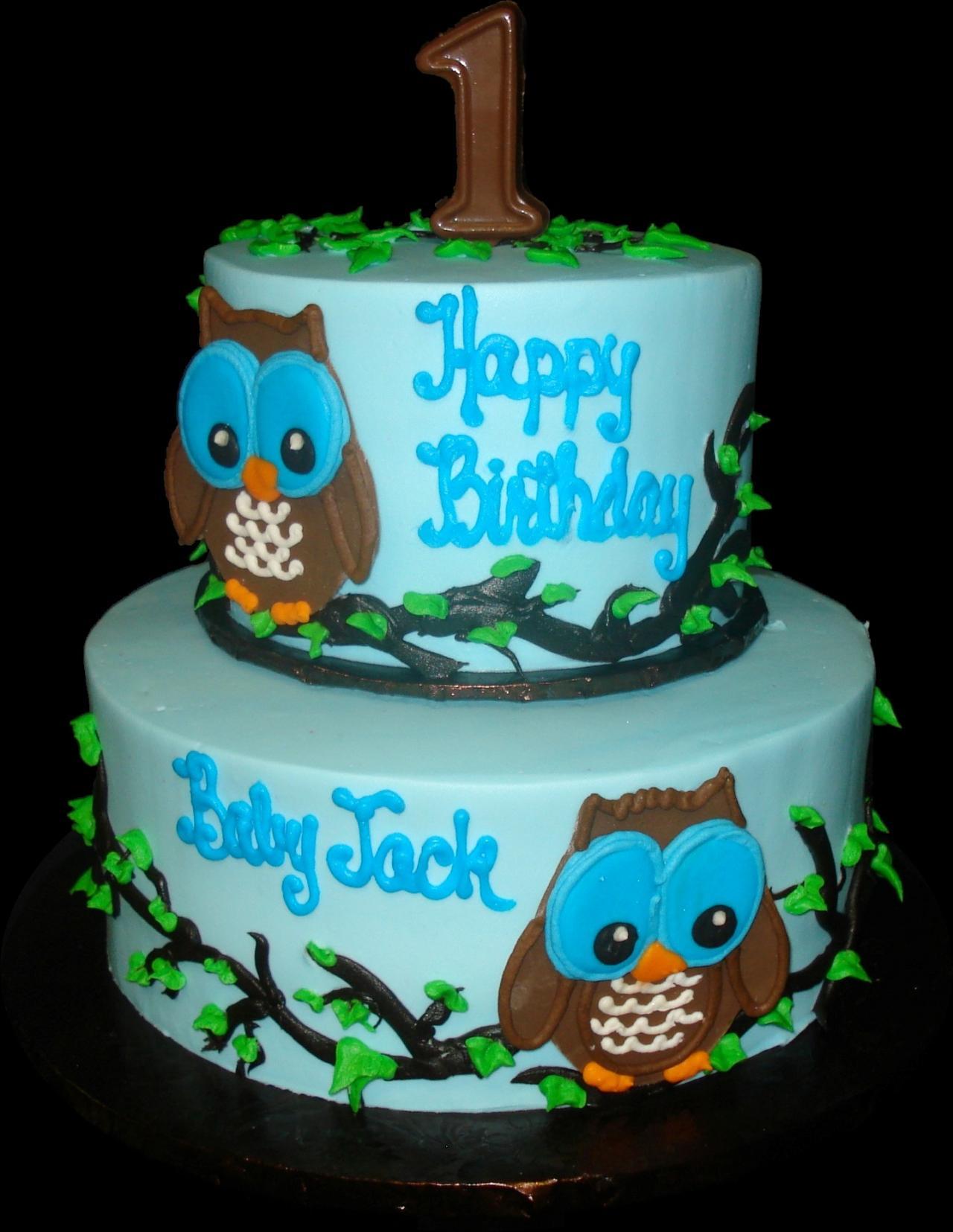Fine 9 Owls 1St Birthday Buttercream Cakes Photo Girls Owl First Personalised Birthday Cards Akebfashionlily Jamesorg