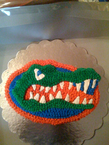 Outstanding 9 Uf Gator Cakes Photo Florida Gators Birthday Cake Florida Personalised Birthday Cards Veneteletsinfo