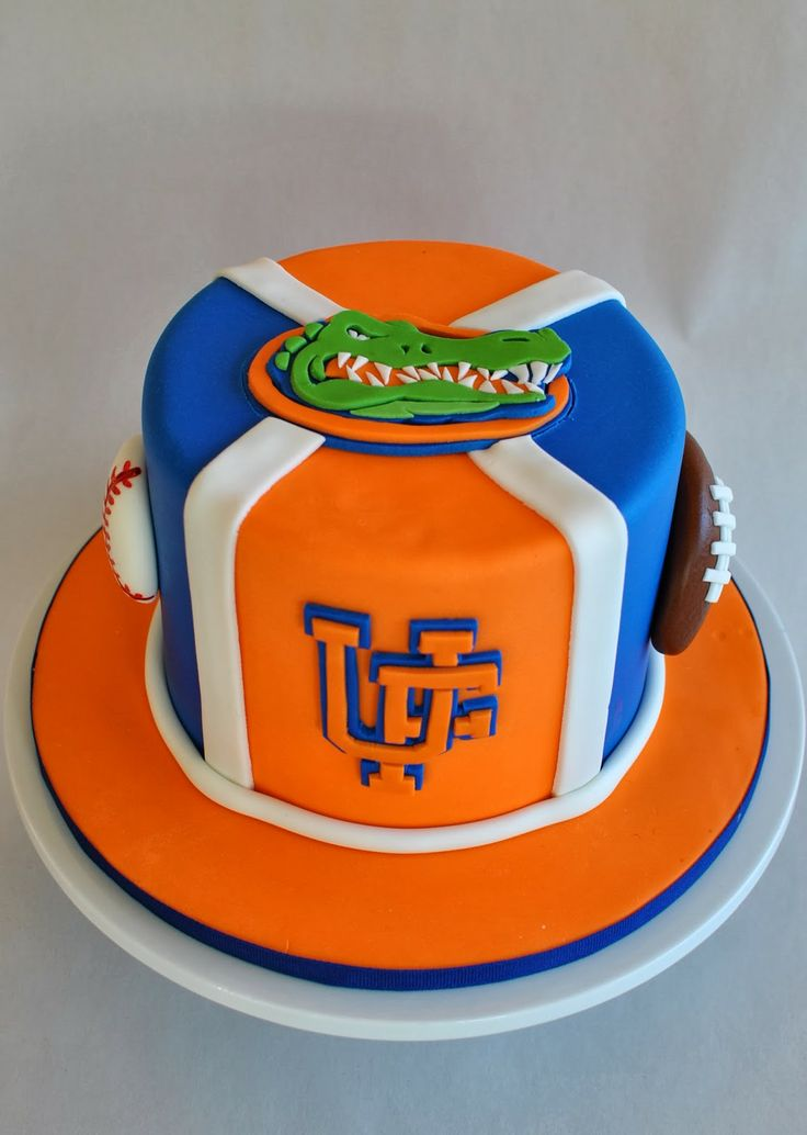 Groovy 9 Uf Gator Cakes Photo Florida Gators Birthday Cake Florida Personalised Birthday Cards Veneteletsinfo
