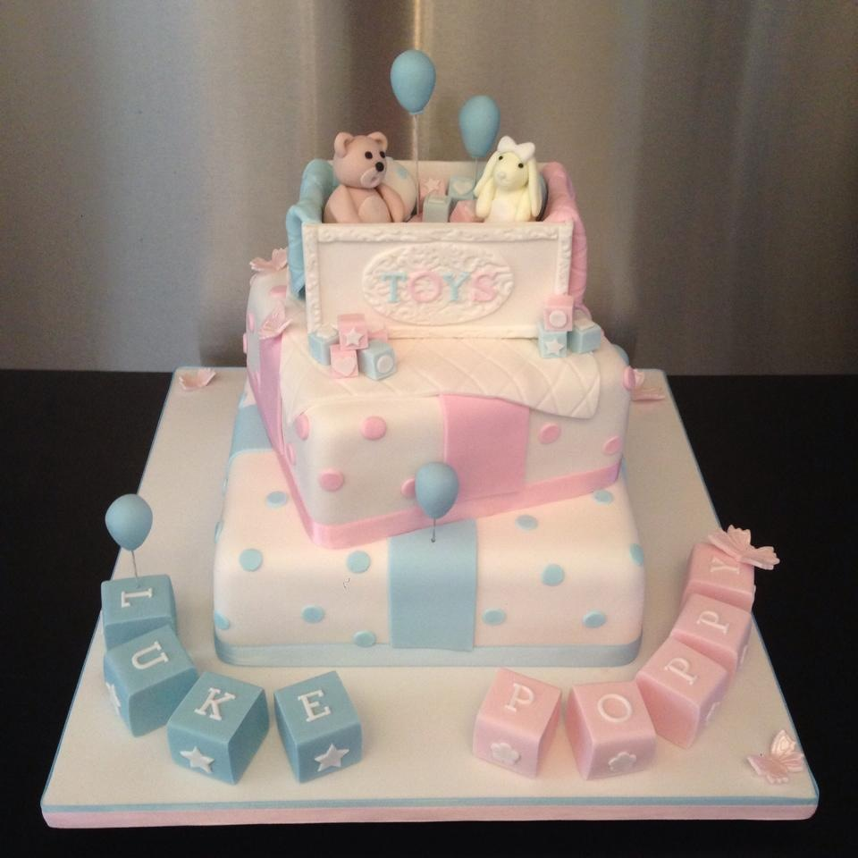 8 christening cakes for twins photo twin girls christening cake