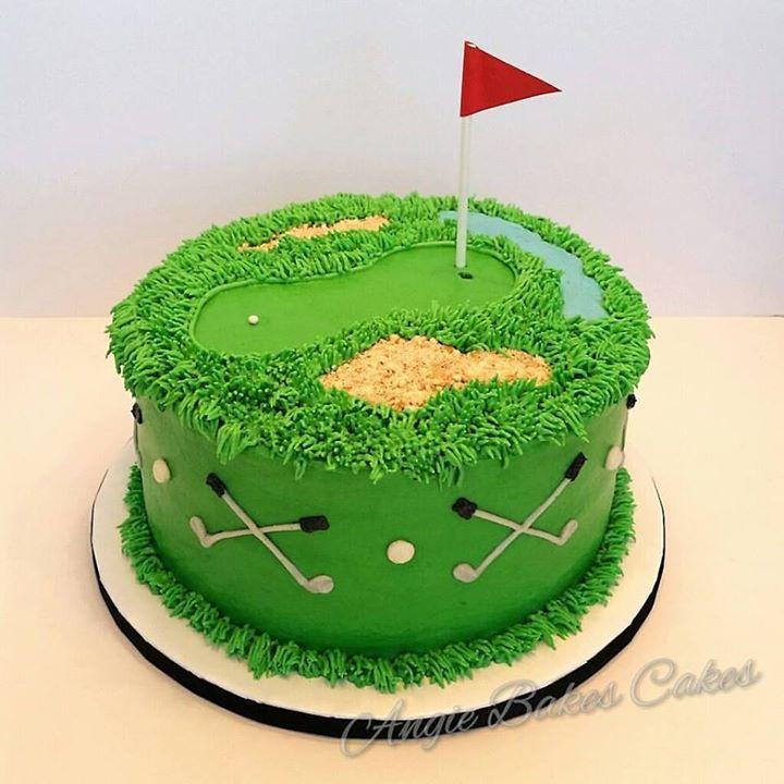 Astounding 9 Fun Golf Birthday Cakes Photo Golf Birthday Cake Decorations Funny Birthday Cards Online Eattedamsfinfo