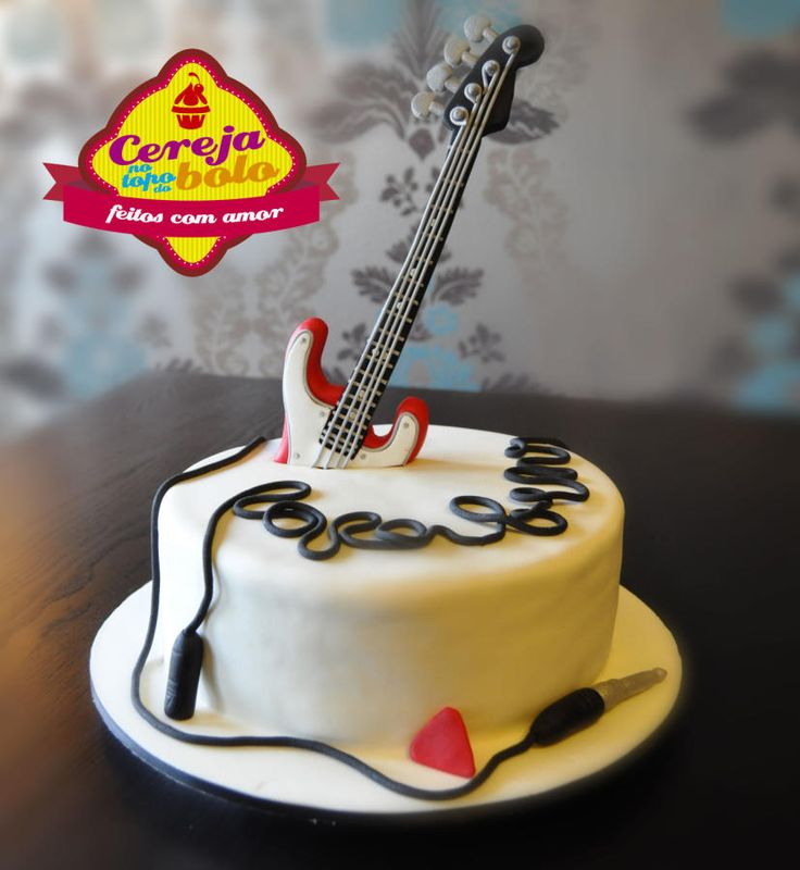 13 Guitar Cupcake Cakes Designs Photo