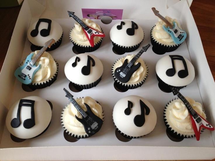 13 Guitar Cupcake Cakes Designs Photo Guitar Cupcake Cake Guitar