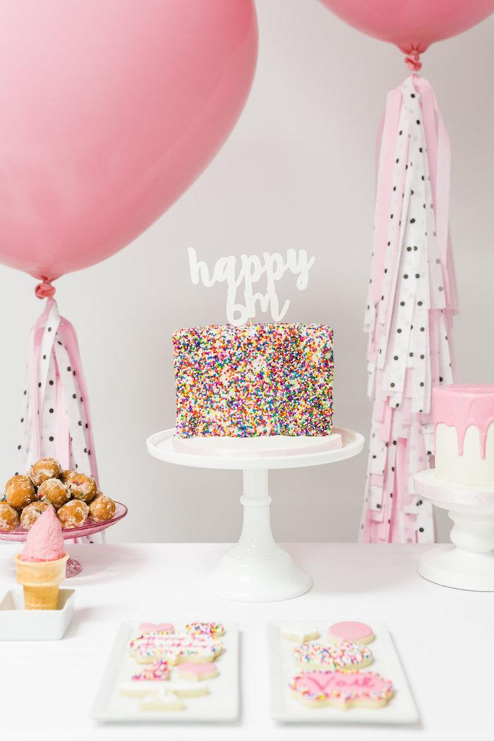 DIY Sprinkle Cake Topper Via Half Birthday Idea