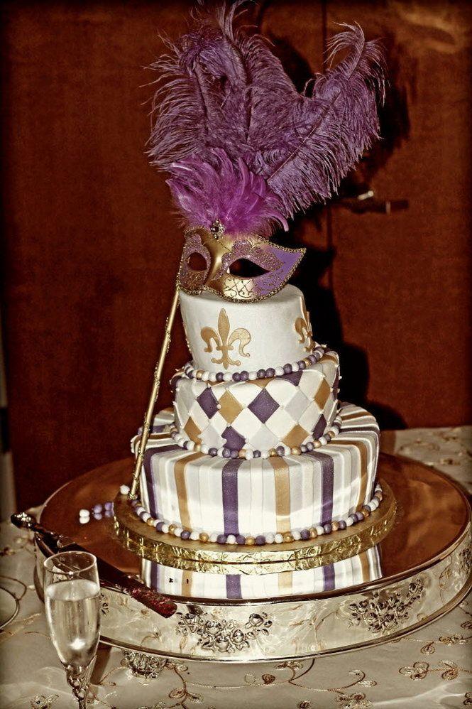 8 Mardi Gras Cakes For A Wedding Reception Photo Mardi Gras Themed