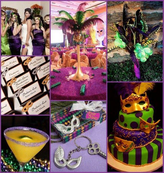 8 Mardi Gras Cakes For A Wedding Reception Photo - Mardi Gras Themed ...