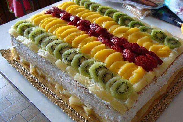 10 Fruit Cakes On Top Sheet Photo Fruit Filled Sponge Cake
