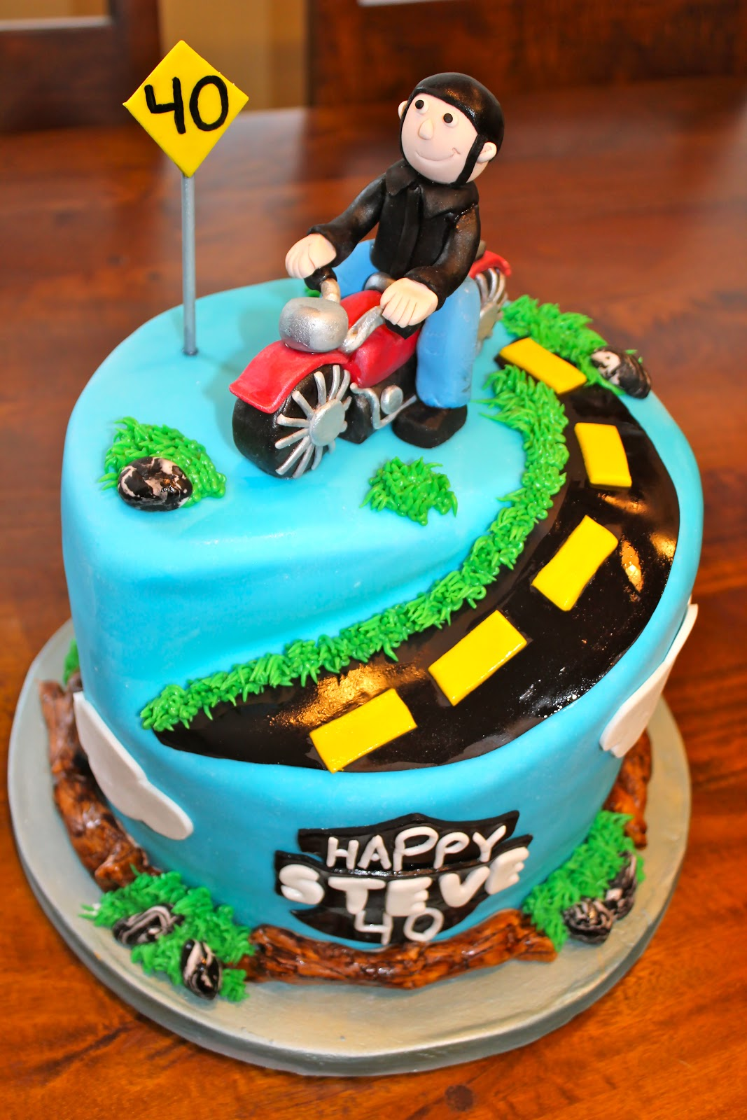 Astounding 9 Happy Birthday Motorcycle Cakes For Men Photo Motorcycle Funny Birthday Cards Online Alyptdamsfinfo