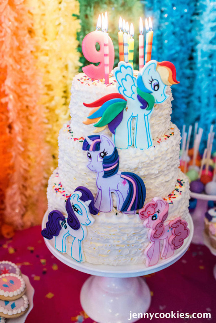 Marvelous 11 My Little Pony Birthday Party And Decorations For Cakes Photo Funny Birthday Cards Online Overcheapnameinfo