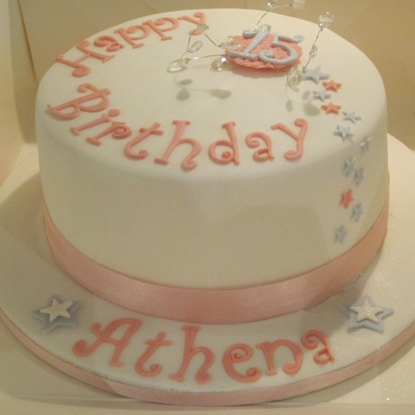 Swell 11 Single Tier Birthday Cakes Photo One Tier Birthday Cake Personalised Birthday Cards Epsylily Jamesorg