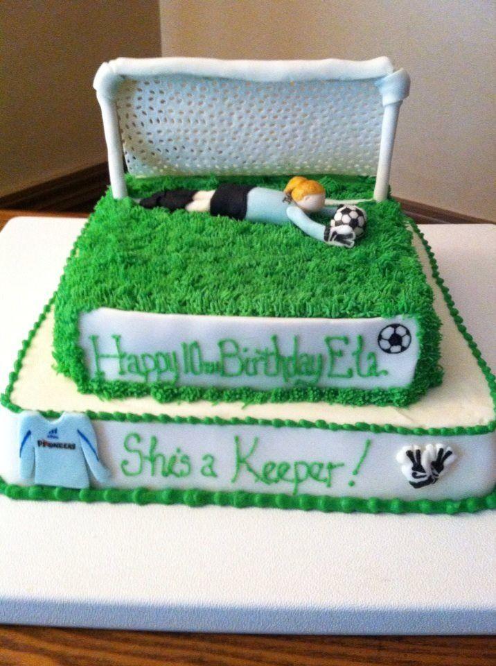 12 Goalie Birthday Cakes Photo Soccer Goalie Birthday Cake Happy