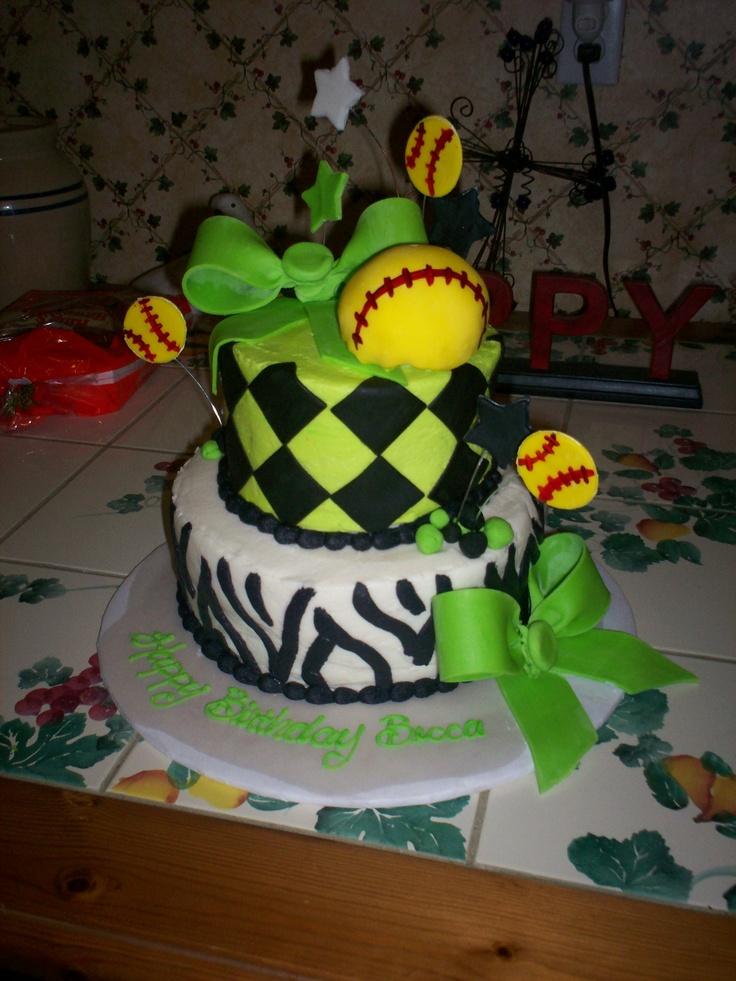 11 Softball Birthday Cakes 13 Photo Softball Birthday Cake