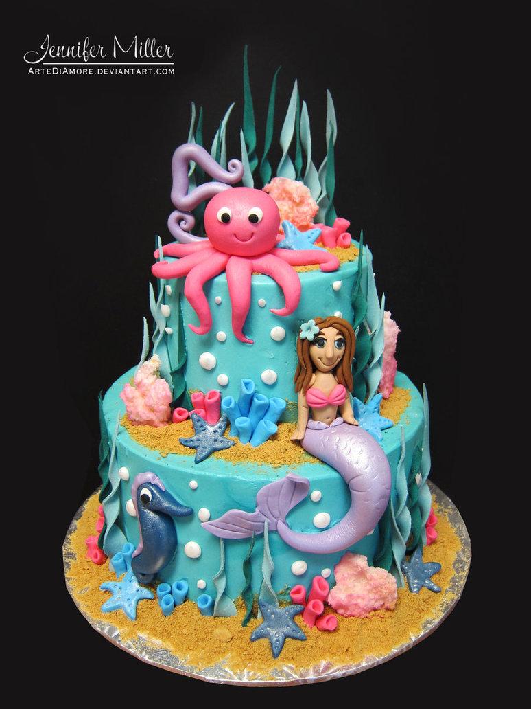 11 Realistic Ocean Themed Cakes Photo Ocean Themed Cake Cake