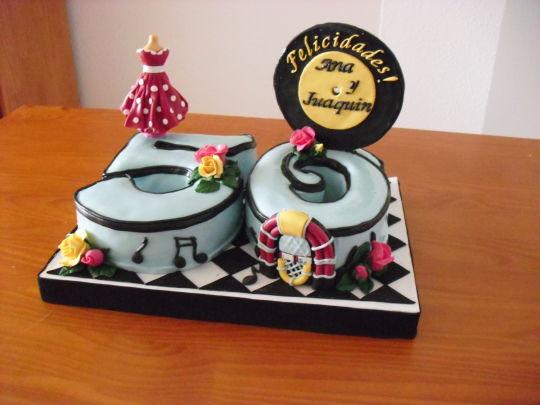 50 Years Anniversary Cake