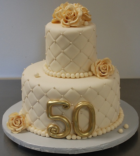 View HD 50 Year Old Birthday Cakes 50th Wedding Anniversary Cake Ideas