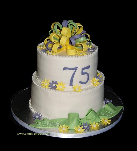 75th Birthday Cake Idea