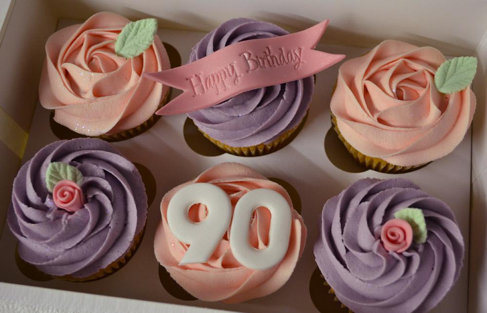 11 90th Birthday Cupcake Cakes Photo