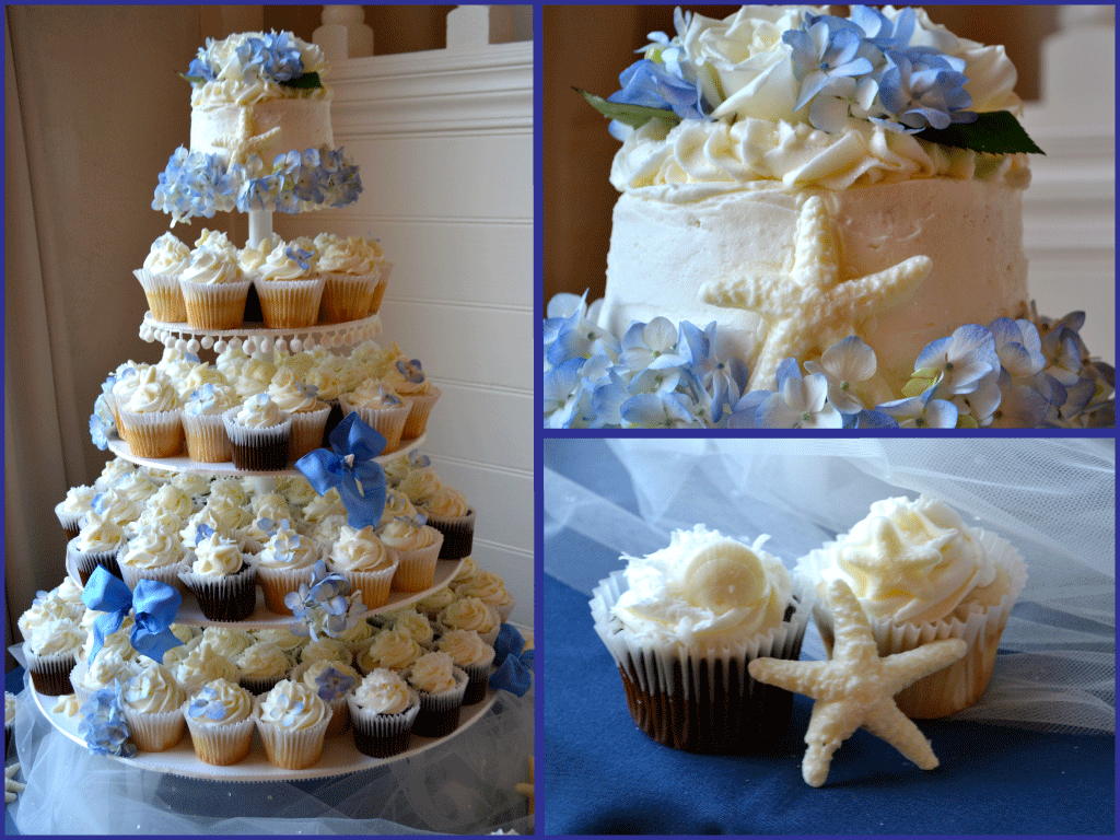 7 Beach Themed Cupcake Wedding Cakes Photo Beach Themed Cupcakes
