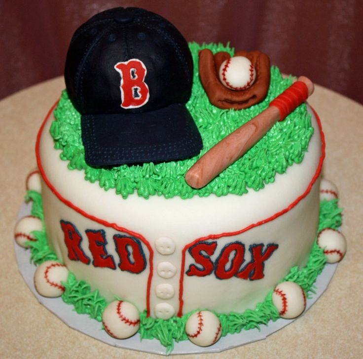 9 Boston Red Sox Birthday Cakes For Men Photo Boston Red Sox