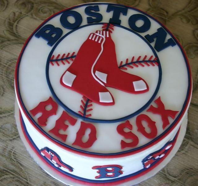 9 Boston Red Sox Birthday Cakes For Men Photo Boston Red Sox