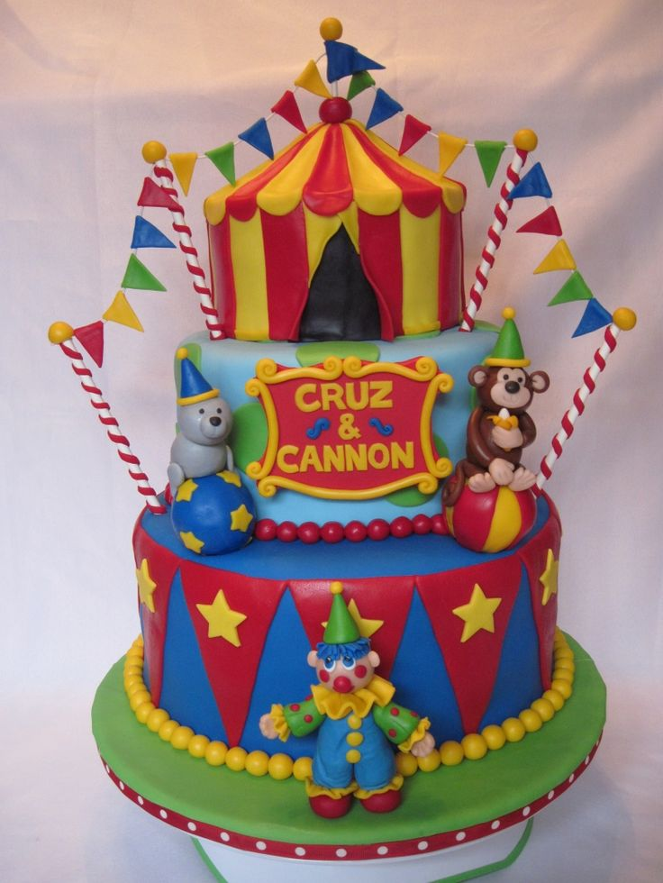 Fine 13 Carnival Theme Cakes For A 7 Year Old Photo Carnival Birthday Funny Birthday Cards Online Elaedamsfinfo