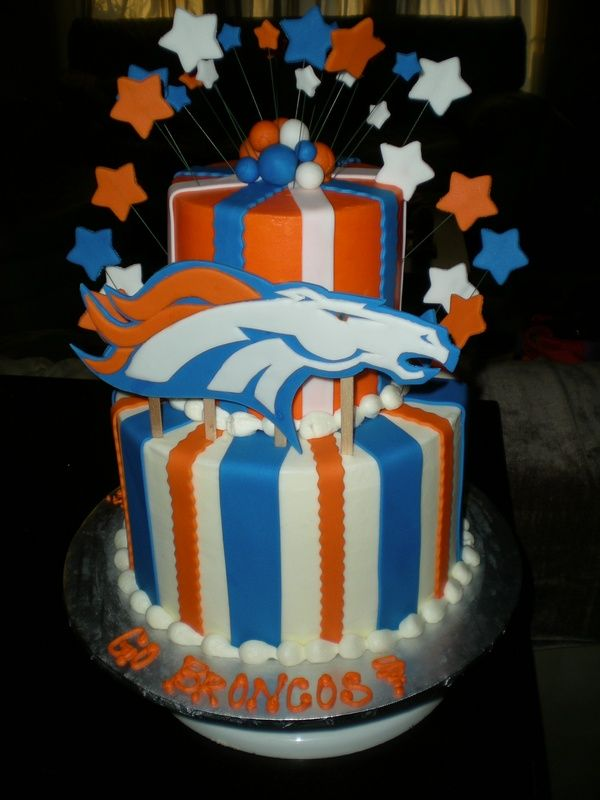 12 Bronco Football Themed Cakes Photo Denver Broncos Birthday Cake