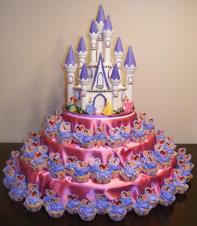 Superb 11 Disney Princess Castle Cupcakes Ideas Photo Disney Princess Personalised Birthday Cards Beptaeletsinfo