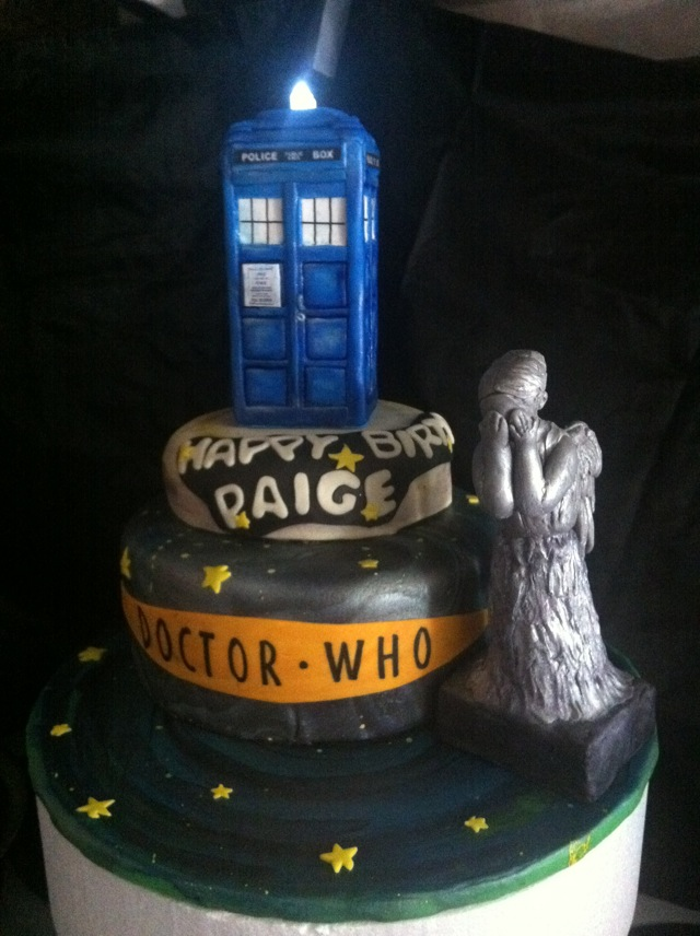 Pleasing 11 Awesome Doctor Who Cakes Photo Doctor Who Weeping Angel Cake Funny Birthday Cards Online Inifofree Goldxyz