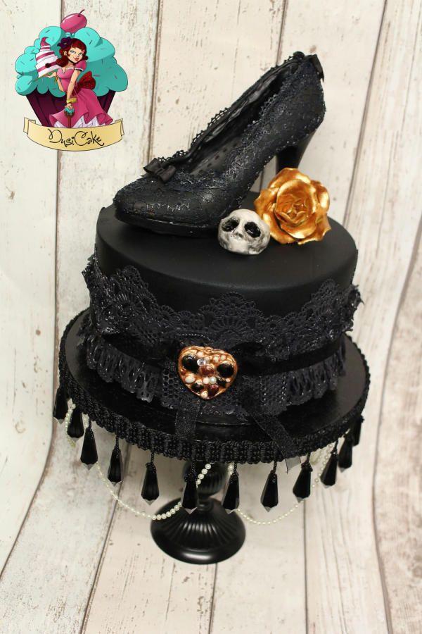 12 Goth Birthday Cakes Bethany Photo Gothic Wedding Cake Wedding