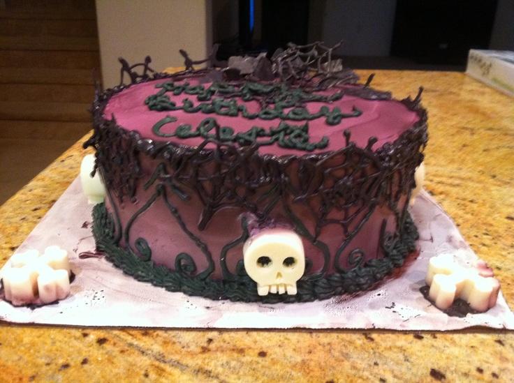 Fantastic 12 Goth Birthday Cakes Bethany Photo Gothic Wedding Cake Funny Birthday Cards Online Aeocydamsfinfo