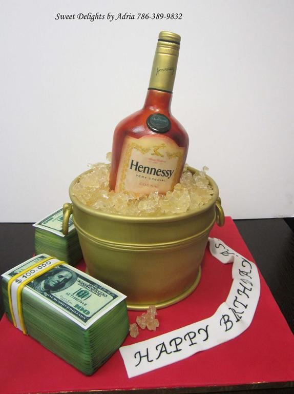 9 Hennessy Birthday Cakes For Guys Photo Hennessy Birthday Cake