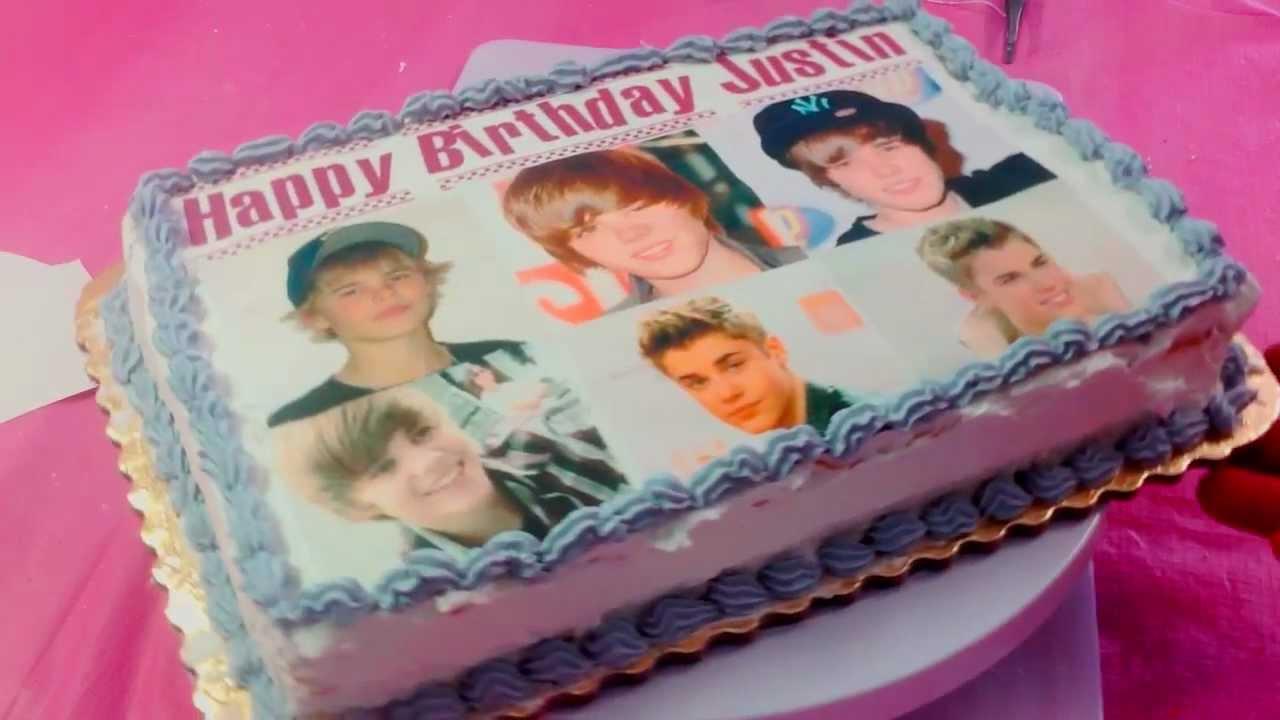 Justin Bieber Birthday Cakes At Walmart Cake Image Diyimages