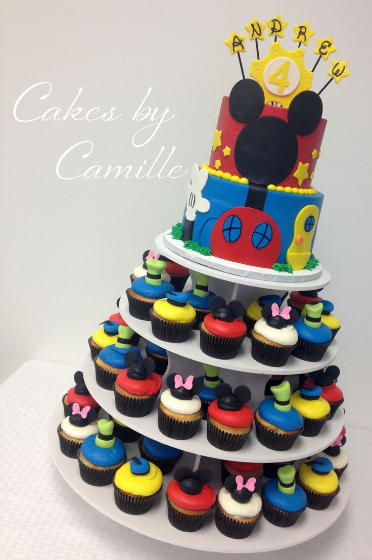Wondrous 7 Mickey Mouse Clubhouse Cake And Cupcakes Photo Disney Mickey Funny Birthday Cards Online Inifofree Goldxyz
