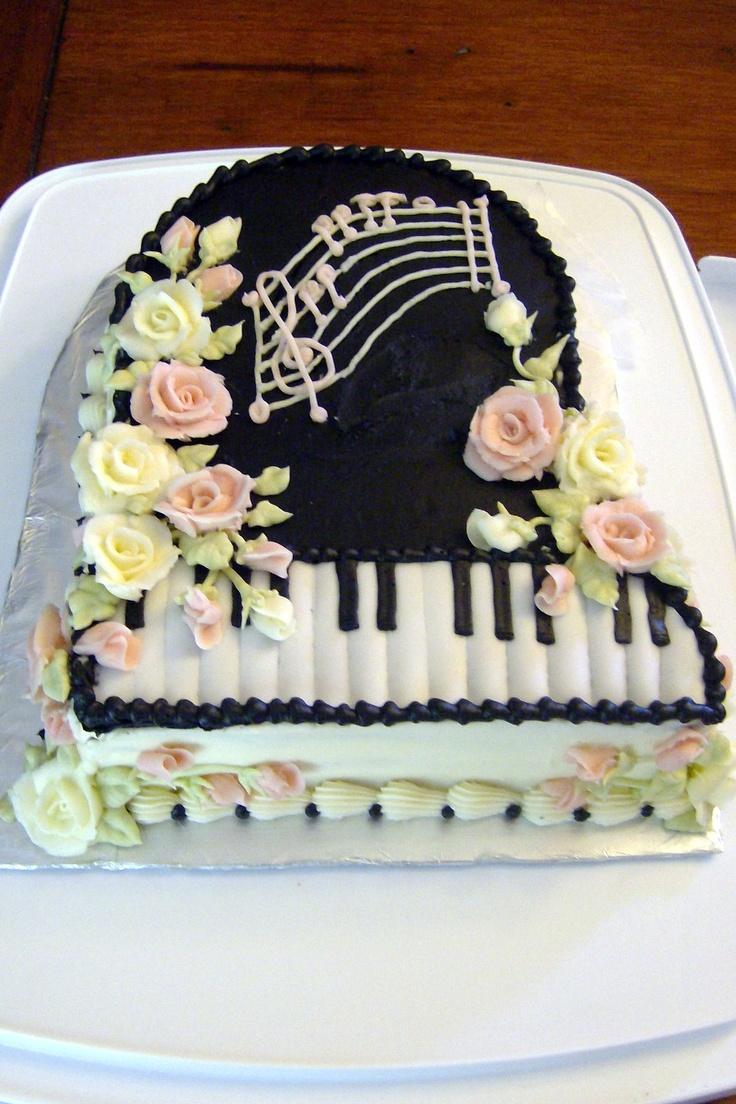 10 Celebrity Birthday Cakes Piano Photo