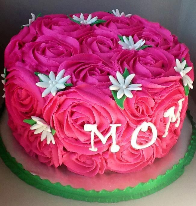 5 Cute Birthday Cakes For Mom Photo Rose Birthday Cake Ideas