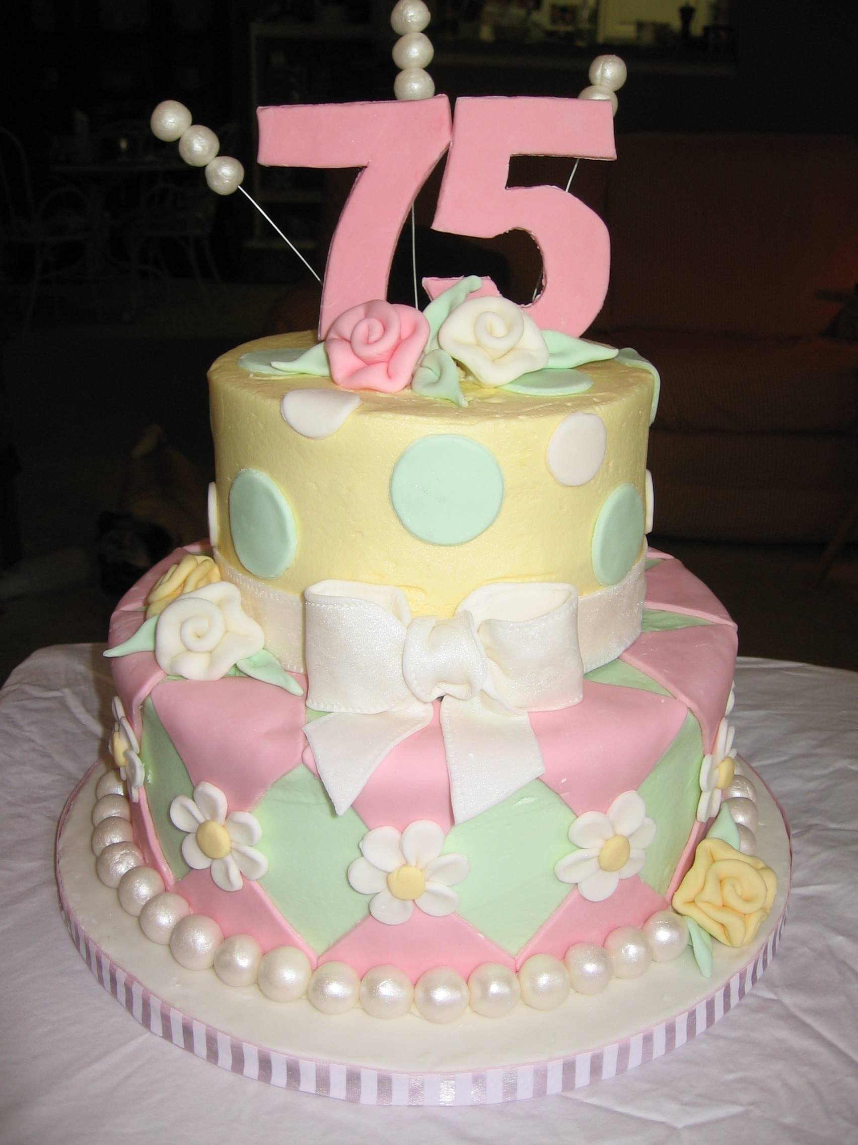 6 Wilton 75th Birthday Cakes Photo