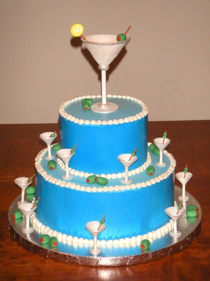 13 Martini Cakes Pinterest Photo Martini Glass Cupcake Cake