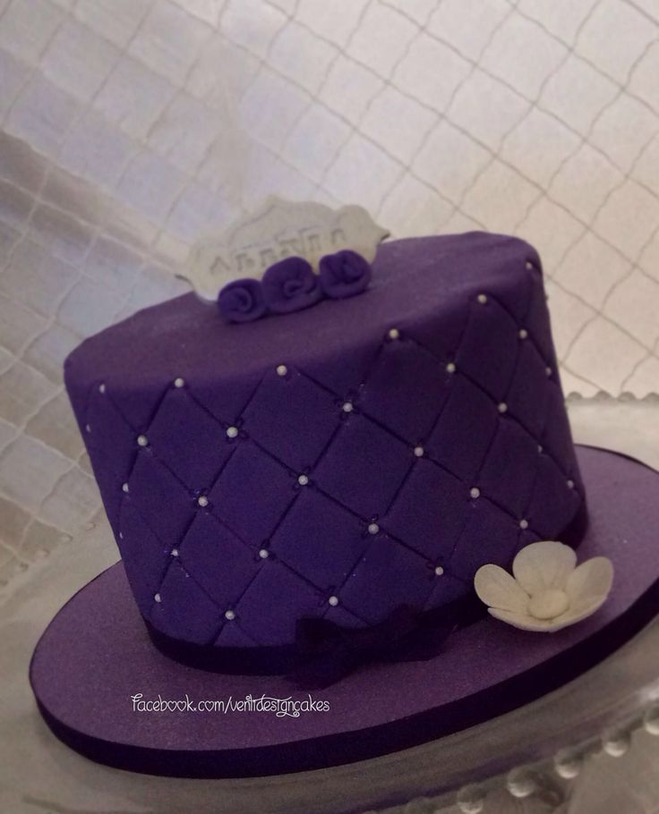 Black And Purple Birthday Cake