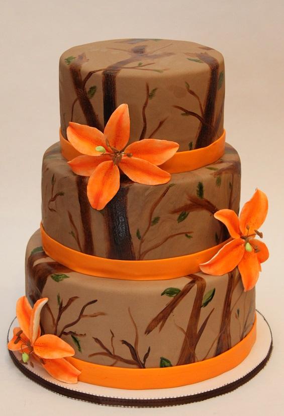 10 Orange Camo Wedding Cakes Photo Camo And Orange Wedding Cake