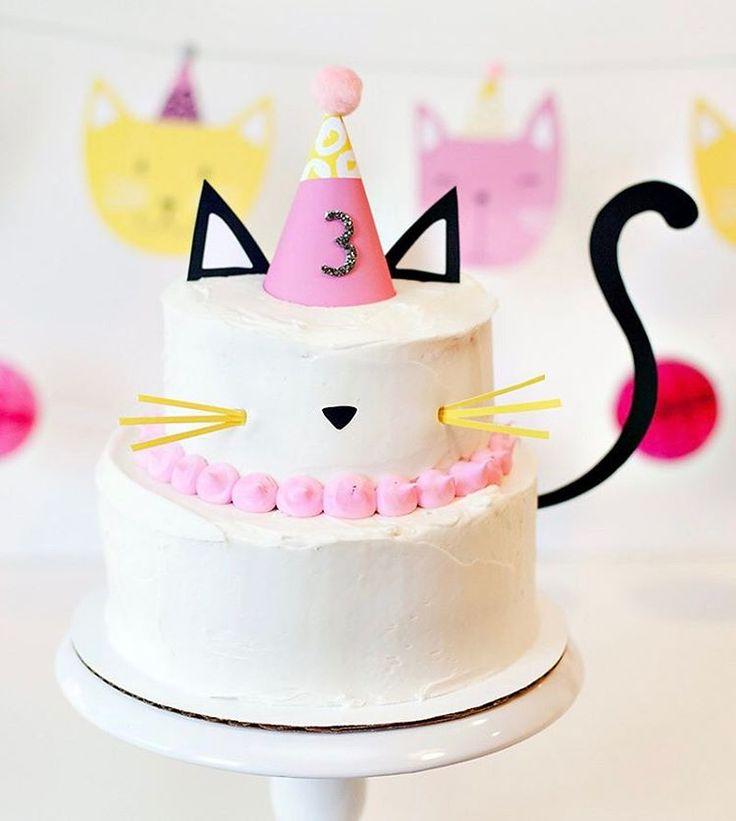 Amazing 10 Kitten Birthday Cakes For 2 Photo Kitten Birthday Cake Cat Funny Birthday Cards Online Overcheapnameinfo